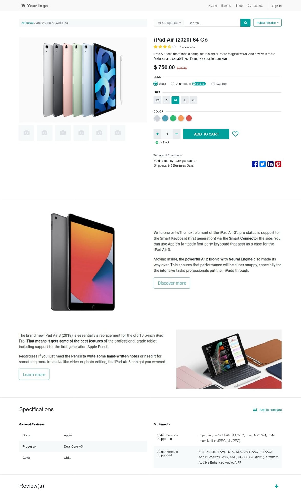 Odoo-15-expected-features-ecommerce-product-page