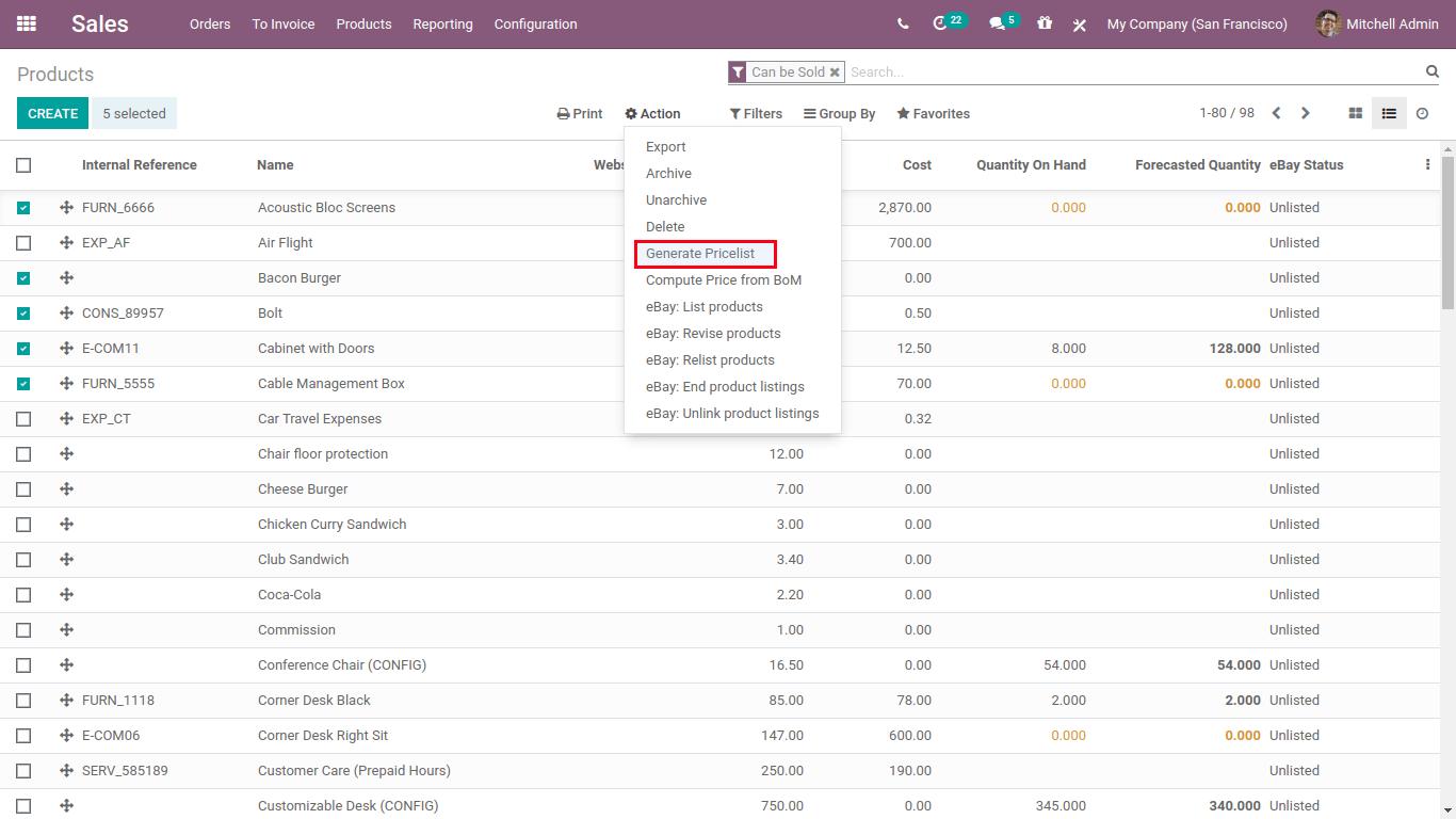 generate pricelist-min